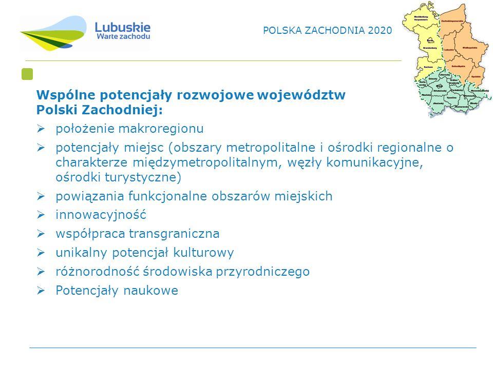 Wspólne potencjały rozwojowe województw Polski Zachodniej: