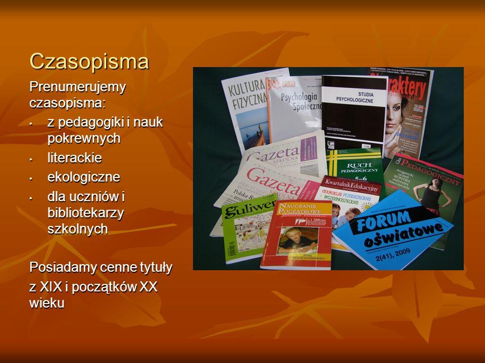 Czasopisma Prenumerujemy czasopisma: z pedagogiki i nauk pokrewnych