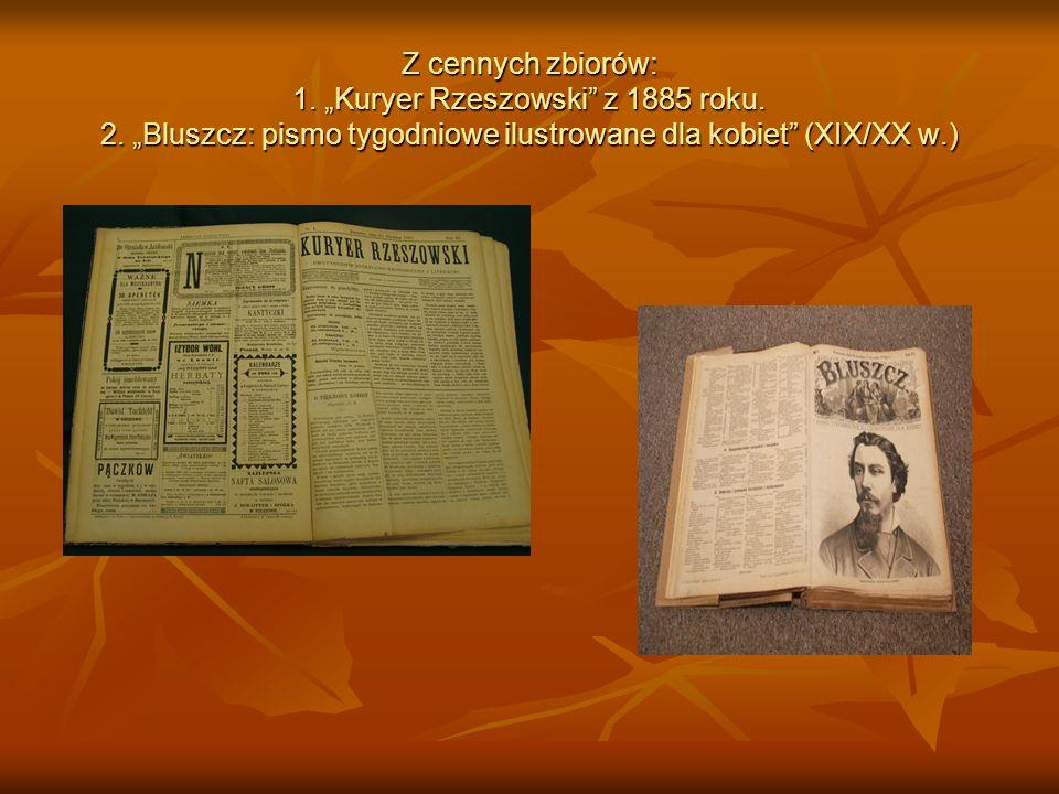 """Z cennych zbiorów: 1. """"Kuryer Rzeszowski z 1885 roku. 2"""