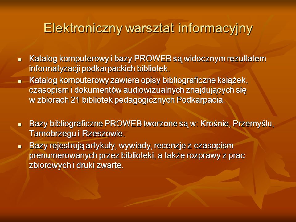 Elektroniczny warsztat informacyjny