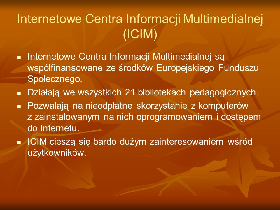 Internetowe Centra Informacji Multimedialnej (ICIM)