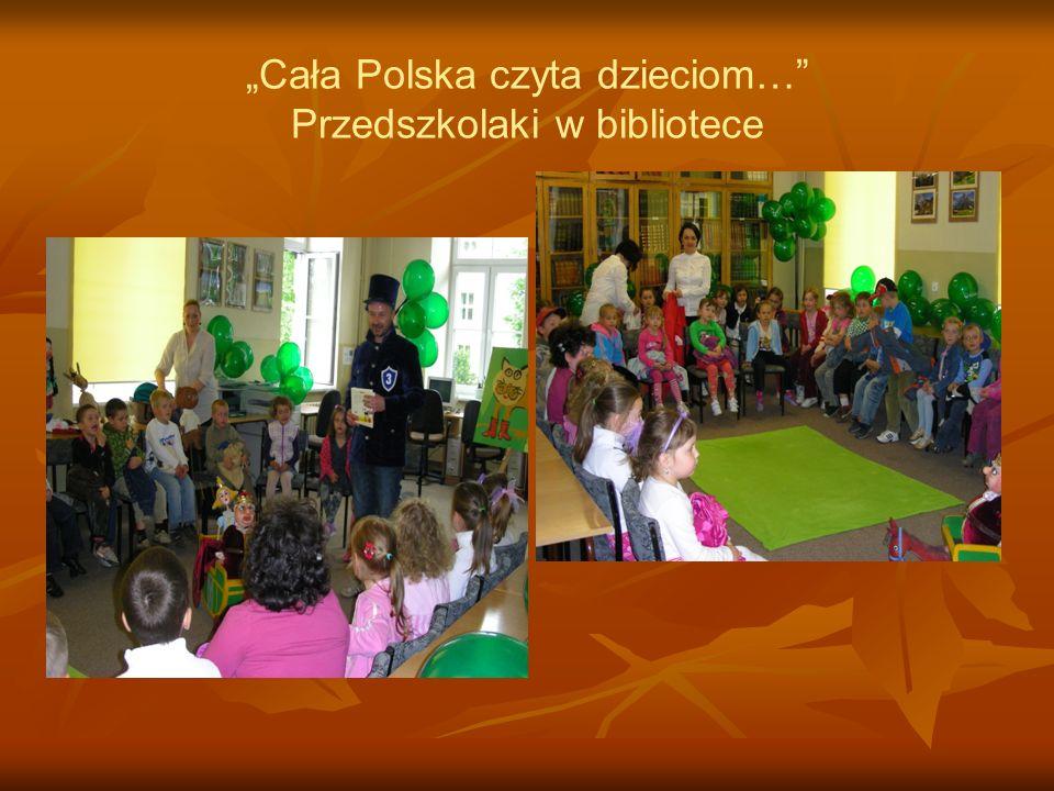 """""""Cała Polska czyta dzieciom… Przedszkolaki w bibliotece"""
