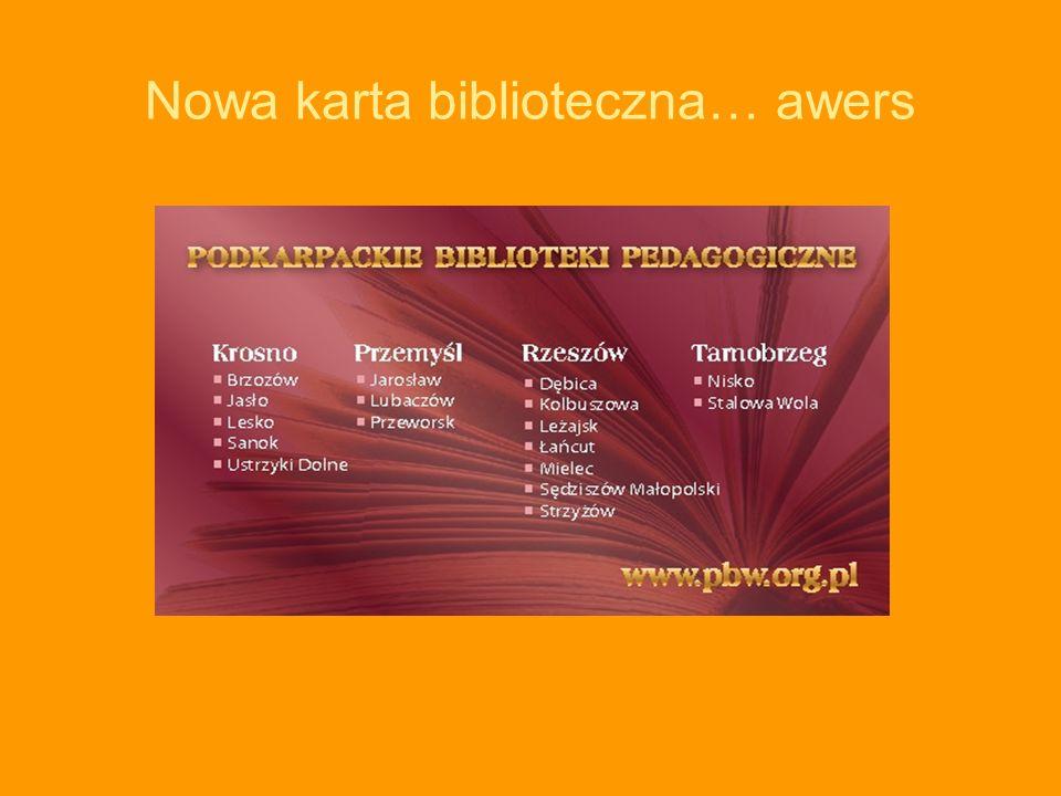 Nowa karta biblioteczna… awers