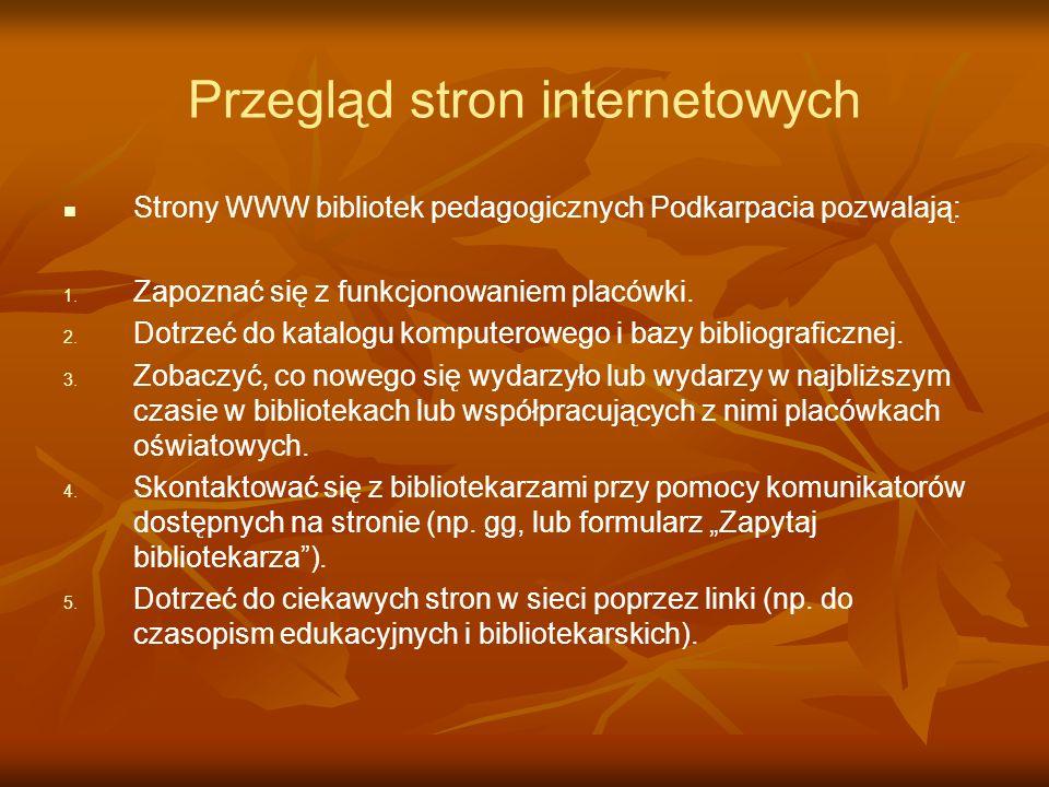 Przegląd stron internetowych