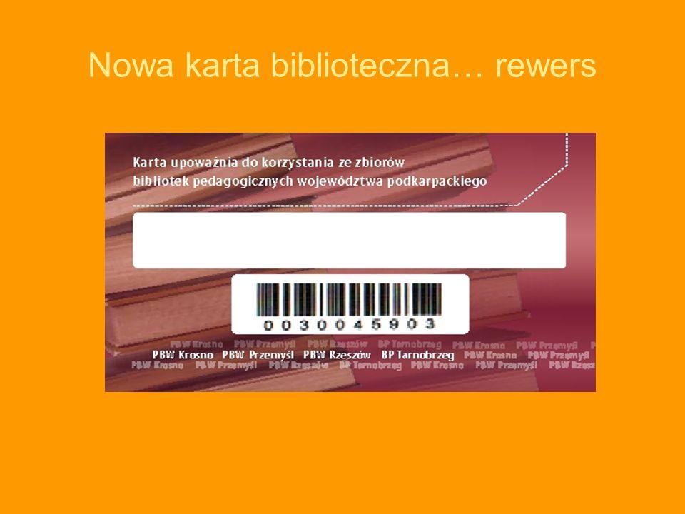 Nowa karta biblioteczna… rewers