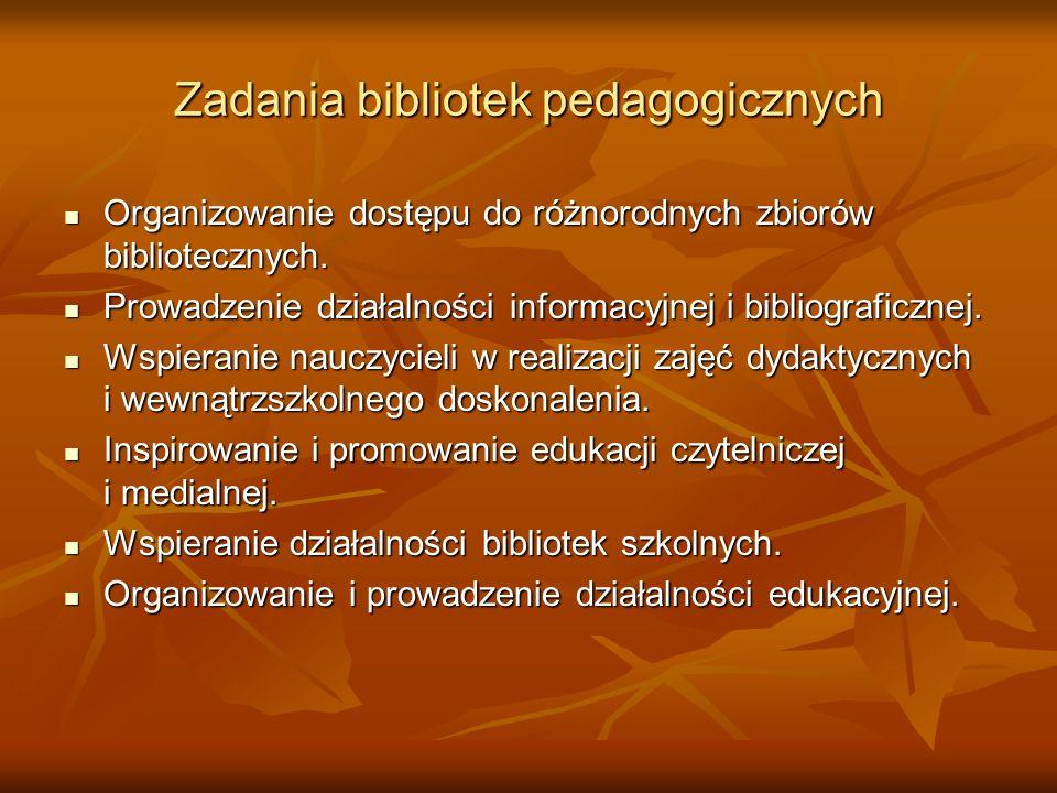 Zadania bibliotek pedagogicznych