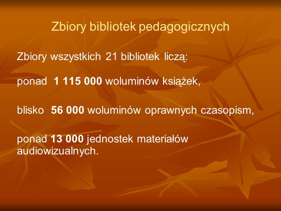 Zbiory bibliotek pedagogicznych