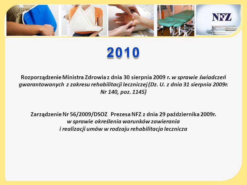 Zarządzenie Nr 56/2009/DSOZ Prezesa NFZ z dnia 29 października 2009r.