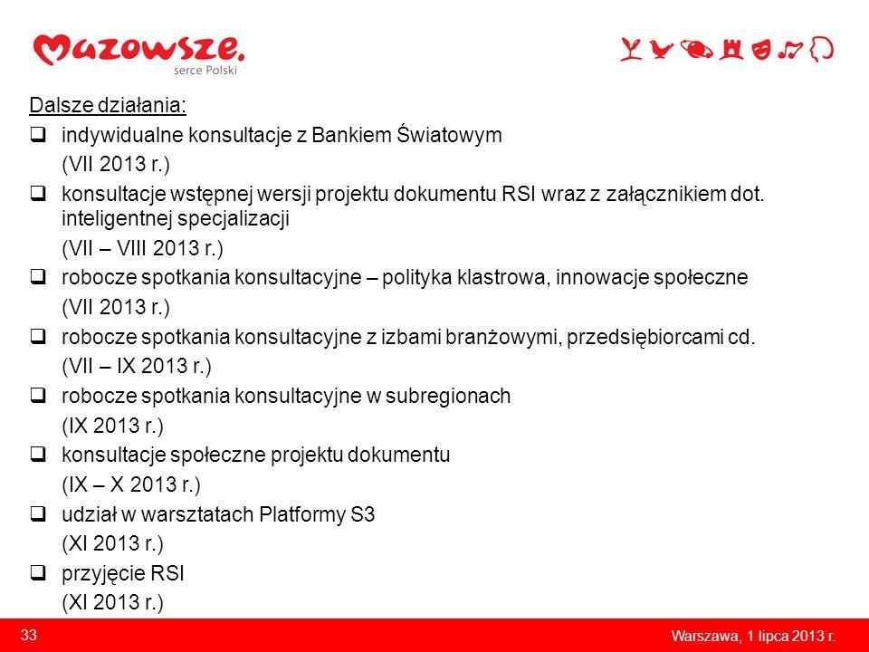 indywidualne konsultacje z Bankiem Światowym (VII 2013 r.)