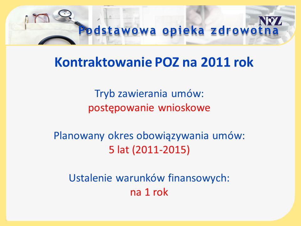 Kontraktowanie POZ na 2011 rok