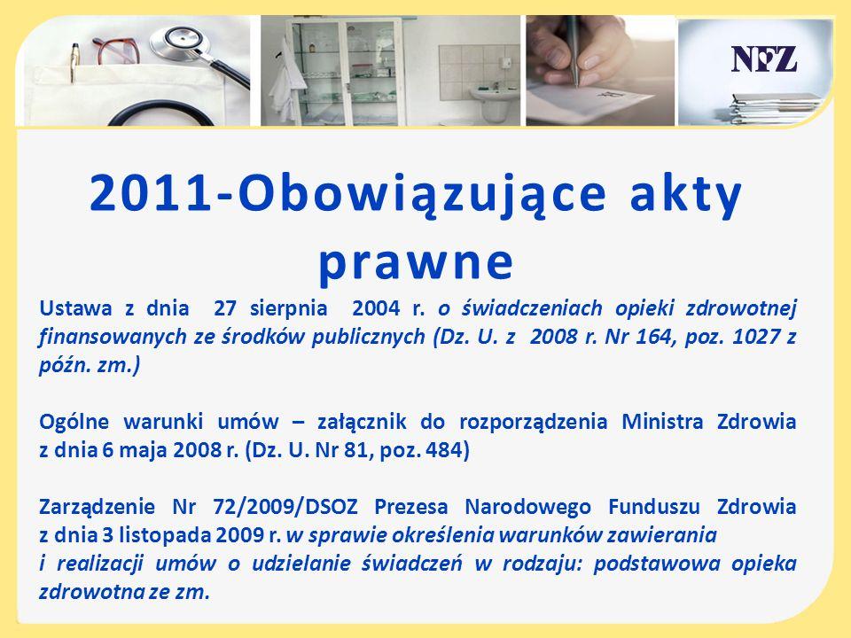 2011-Obowiązujące akty prawne