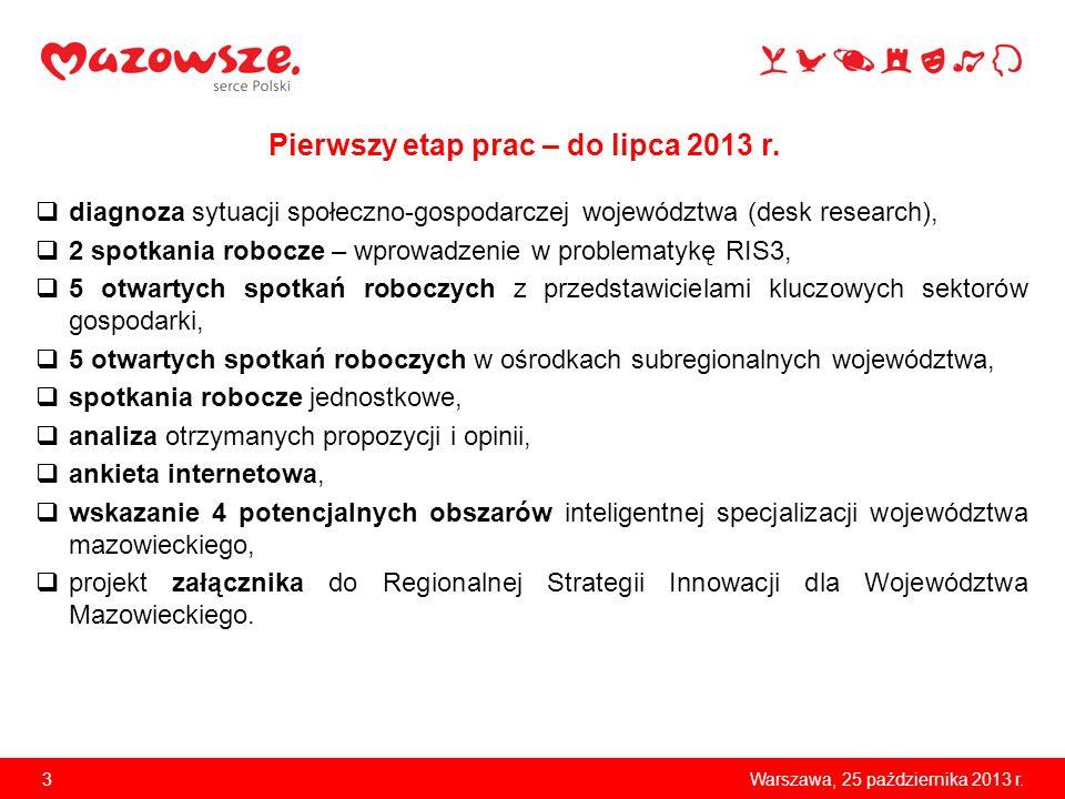 Pierwszy etap prac – do lipca 2013 r.