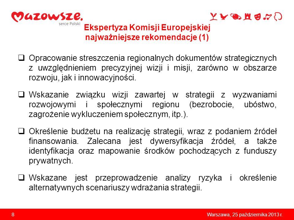 Ekspertyza Komisji Europejskiej najważniejsze rekomendacje (1)
