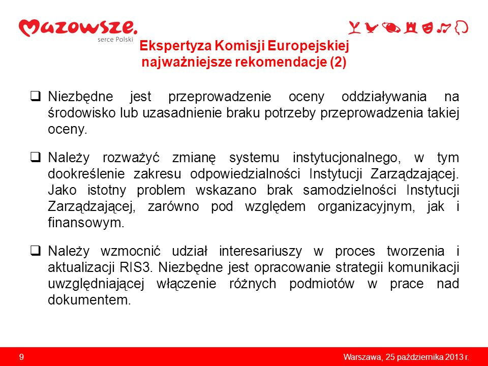 Ekspertyza Komisji Europejskiej najważniejsze rekomendacje (2)
