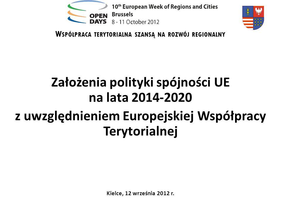 Założenia polityki spójności UE na lata 2014-2020