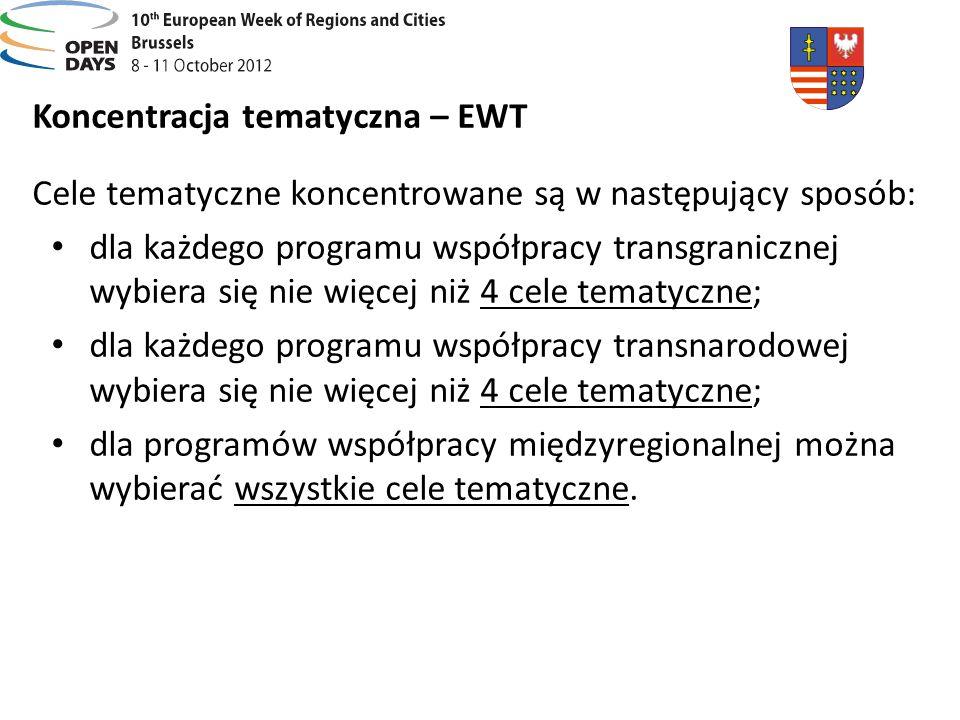 Koncentracja tematyczna – EWT