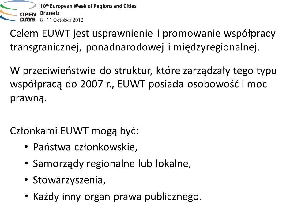 Celem EUWT jest usprawnienie i promowanie współpracy transgranicznej, ponadnarodowej i międzyregionalnej.