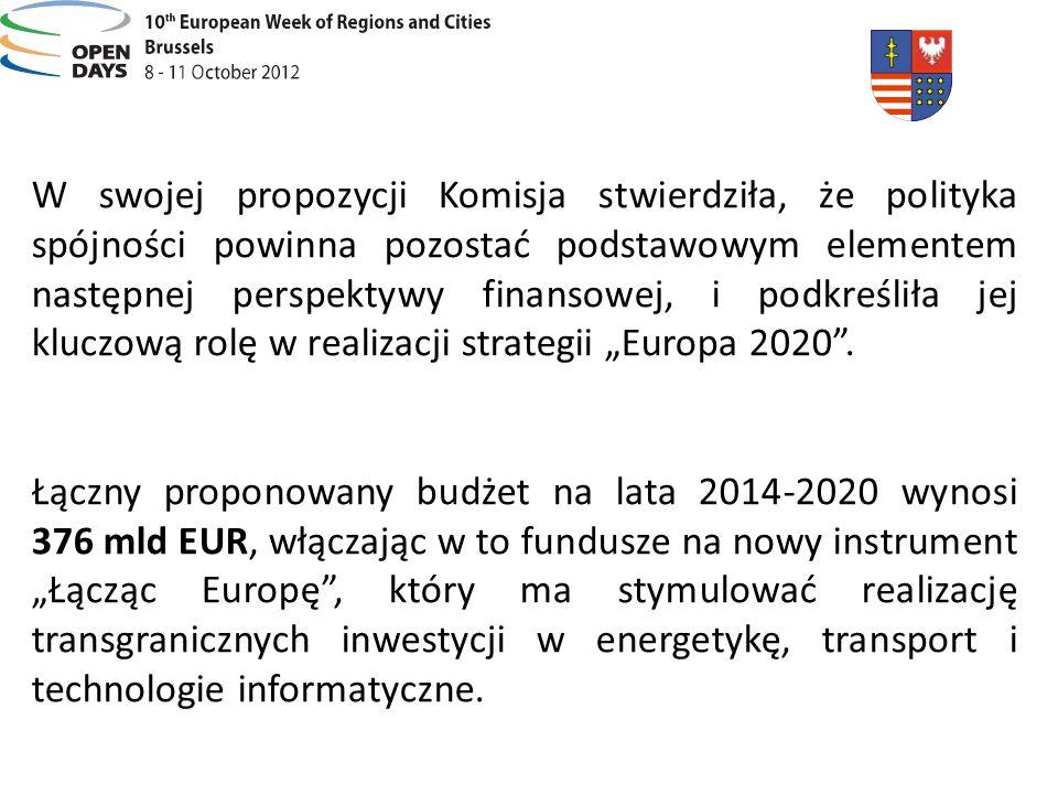 """W swojej propozycji Komisja stwierdziła, że polityka spójności powinna pozostać podstawowym elementem następnej perspektywy finansowej, i podkreśliła jej kluczową rolę w realizacji strategii """"Europa 2020 ."""