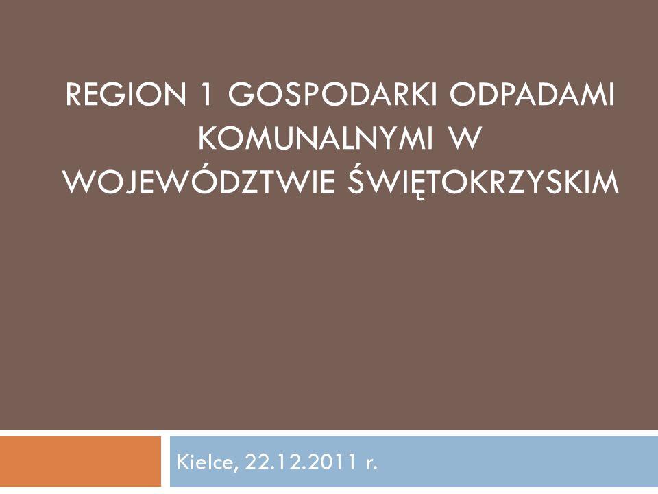 Region 1 gospodarki odpadami komunalnymi w województwie świętokrzyskim
