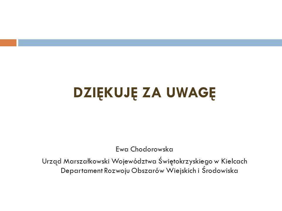 DZIĘKUJĘ ZA UWAGĘ Ewa Chodorowska