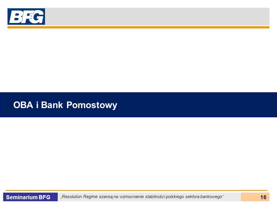 OBA i Bank Pomostowy Seminarium BFG 16