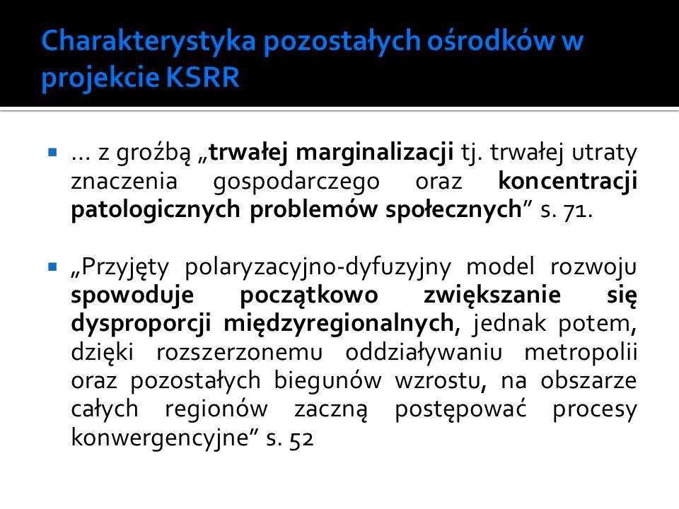 Charakterystyka pozostałych ośrodków w projekcie KSRR