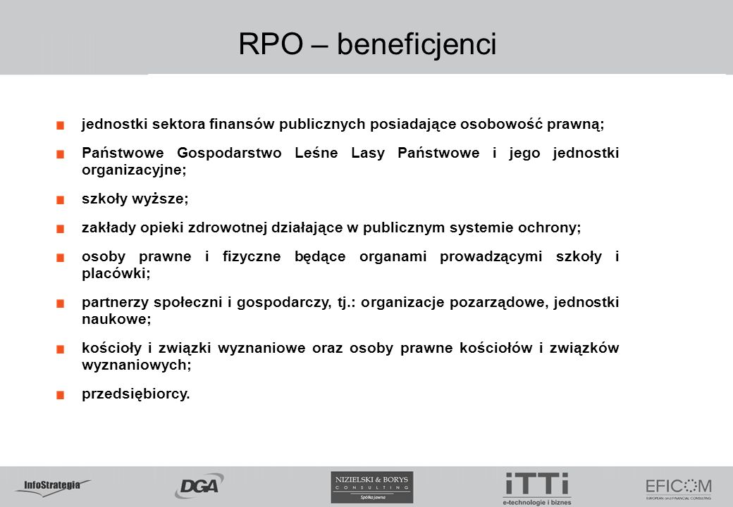5.02.09 RPO – beneficjenci. jednostki sektora finansów publicznych posiadające osobowość prawną;