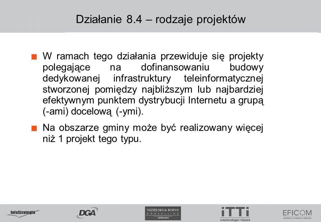 Działanie 8.4 – rodzaje projektów