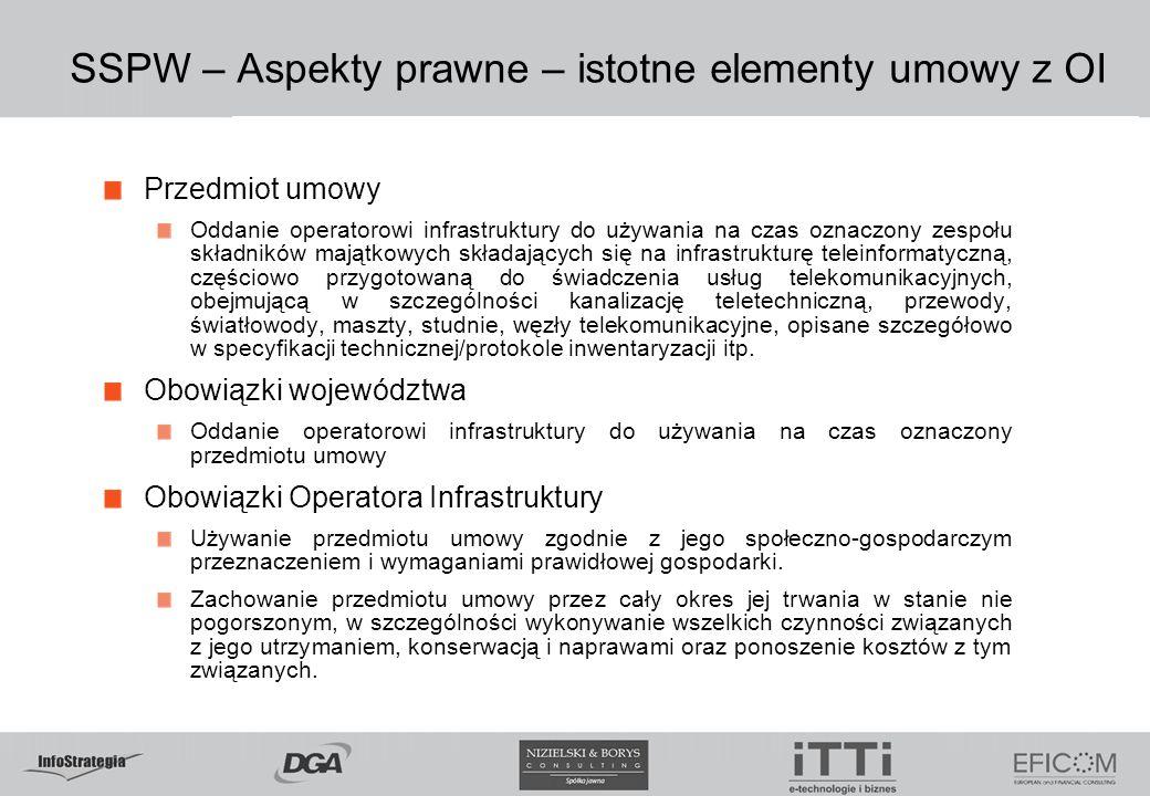SSPW – Aspekty prawne – istotne elementy umowy z OI