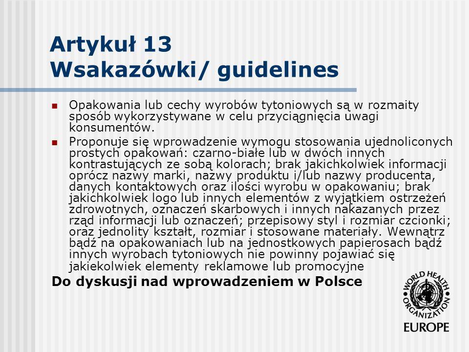 Artykuł 13 Wsakazówki/ guidelines