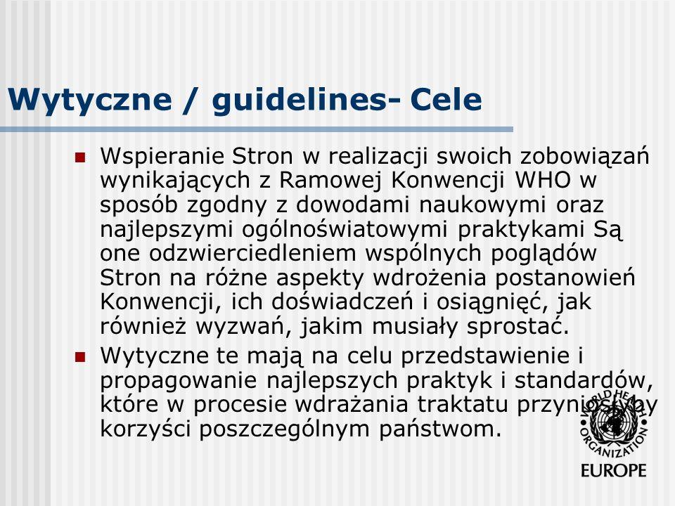 Wytyczne / guidelines- Cele