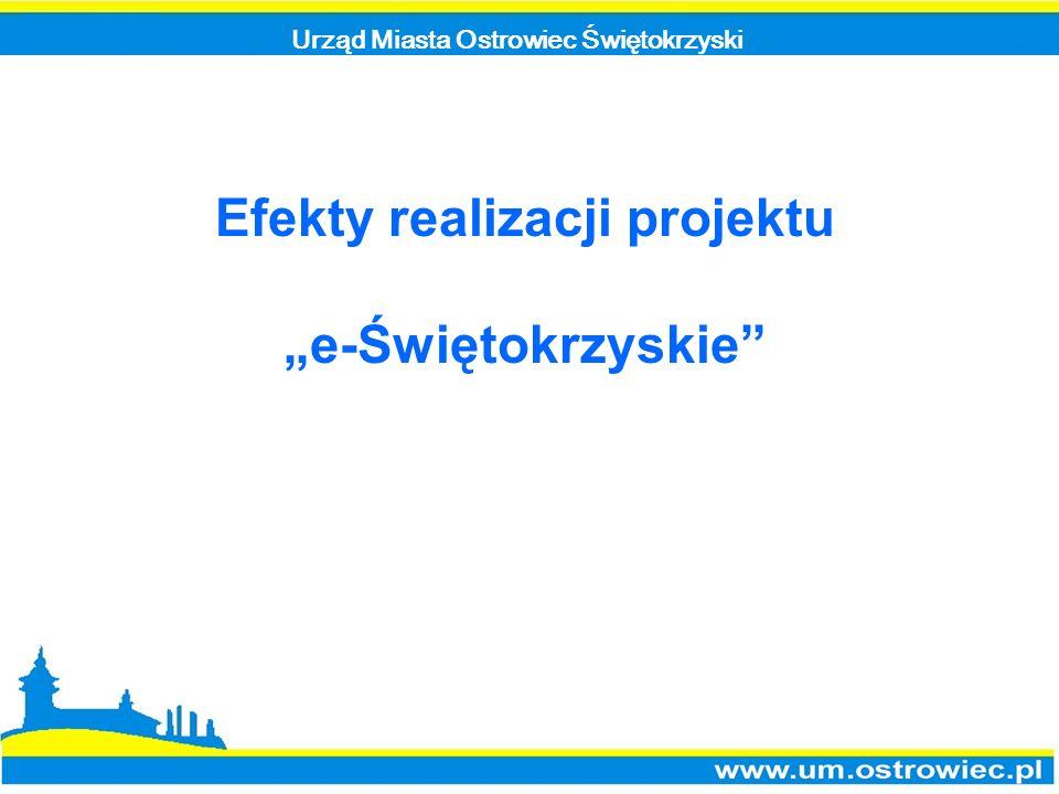 Urząd Miasta Ostrowiec Świętokrzyski Efekty realizacji projektu