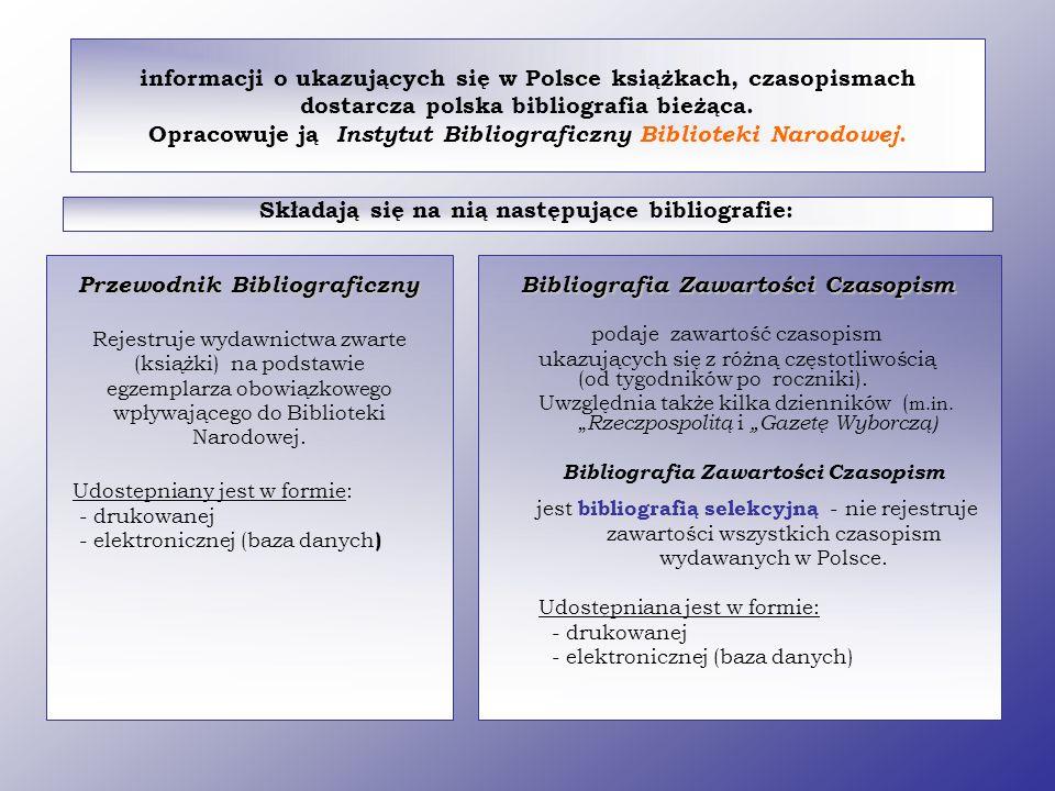 Składają się na nią następujące bibliografie: