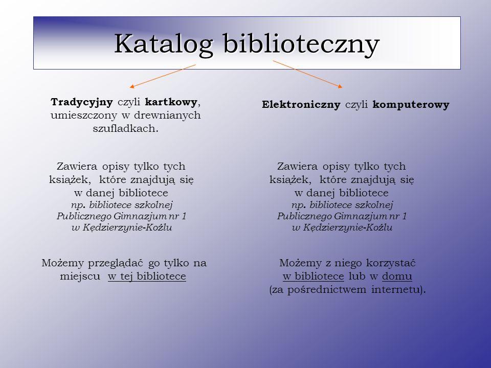 Katalog biblioteczny Tradycyjny czyli kartkowy,