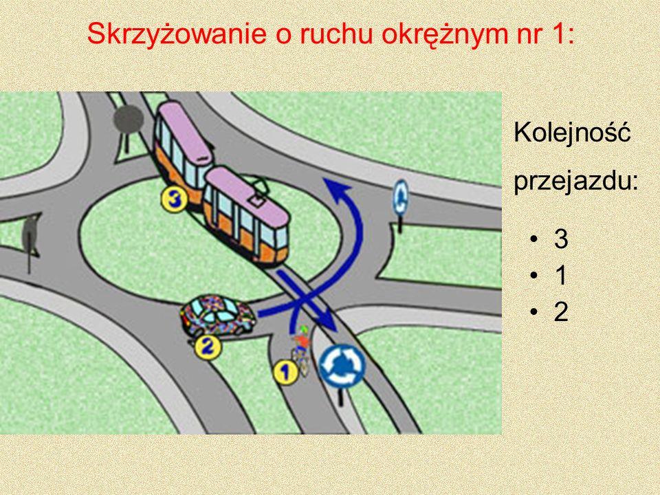 Skrzyżowanie o ruchu okrężnym nr 1: