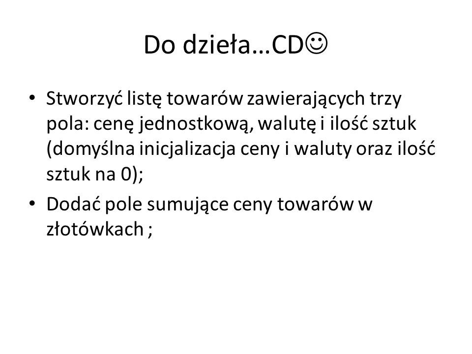Do dzieła…CD