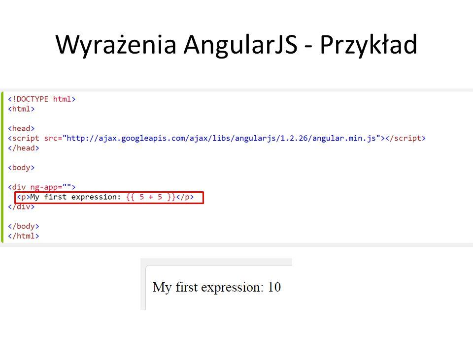 Wyrażenia AngularJS - Przykład