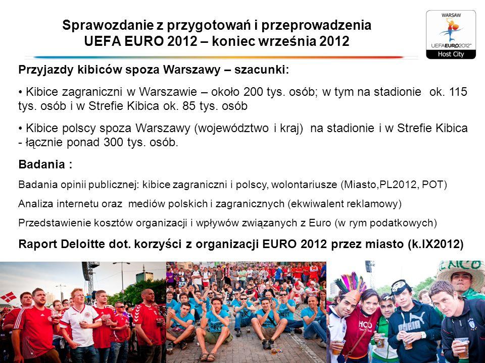 Sprawozdanie z przygotowań i przeprowadzenia UEFA EURO 2012 – koniec września 2012