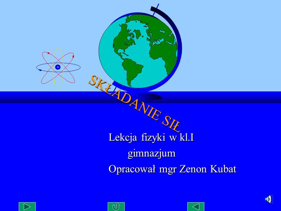 Lekcja fizyki w kl.I gimnazjum Opracował mgr Zenon Kubat