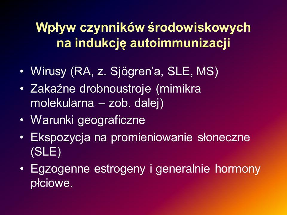 Wpływ czynników środowiskowych na indukcję autoimmunizacji
