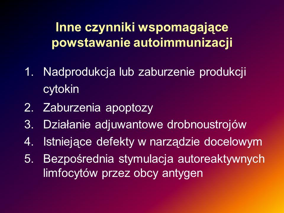 Inne czynniki wspomagające powstawanie autoimmunizacji