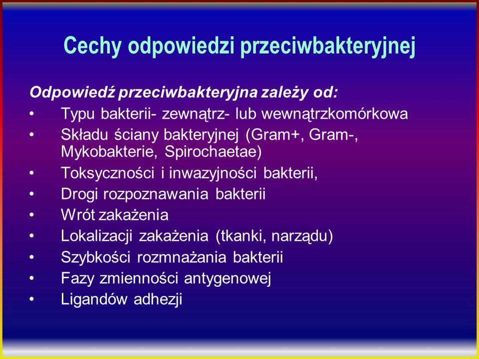 Cechy odpowiedzi przeciwbakteryjnej