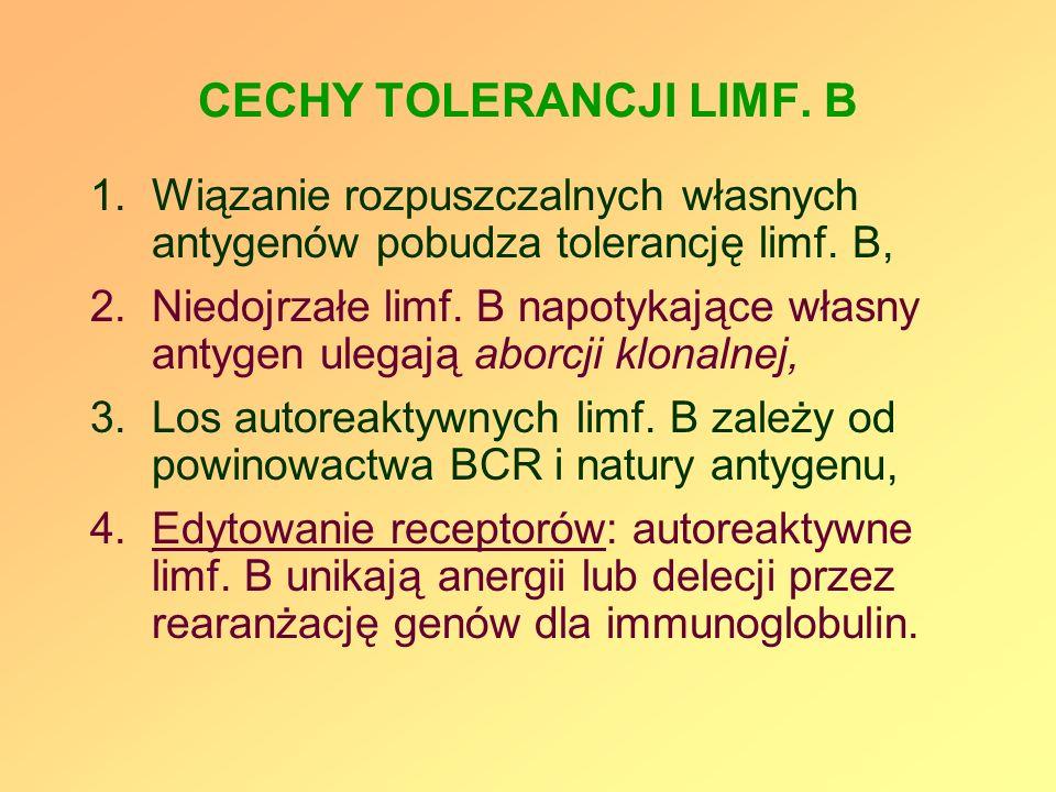 CECHY TOLERANCJI LIMF. B