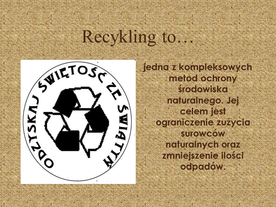 Recykling to…