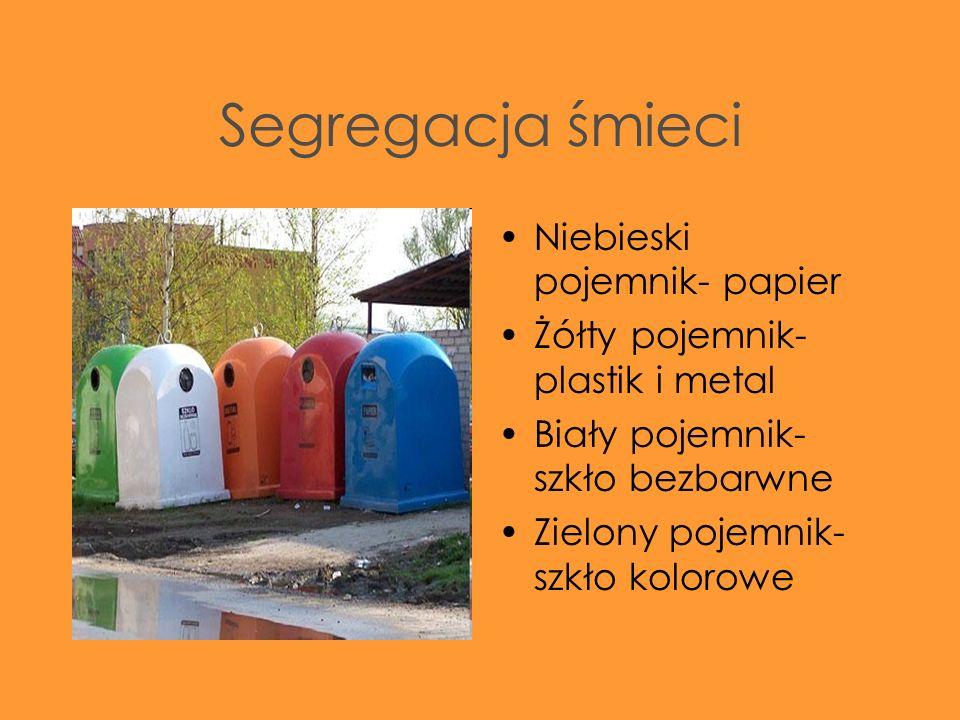 Segregacja śmieci Niebieski pojemnik- papier