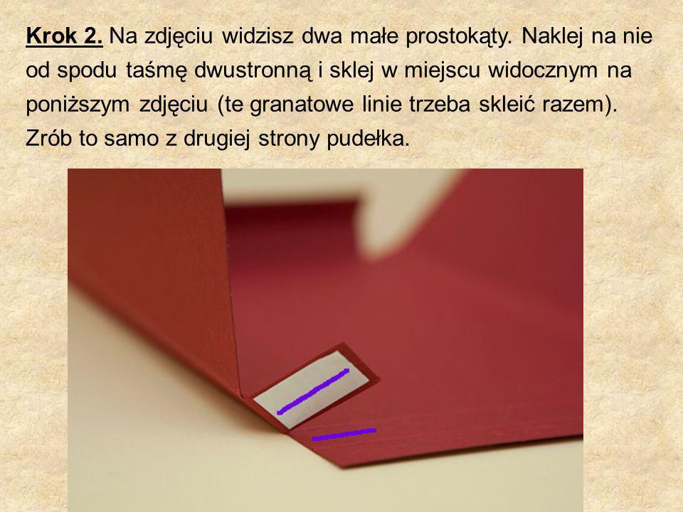 Krok 2. Na zdjęciu widzisz dwa małe prostokąty