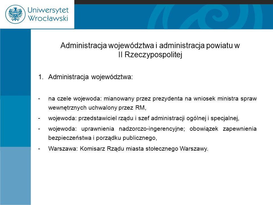 Administracja województwa i administracja powiatu w II Rzeczypospolitej