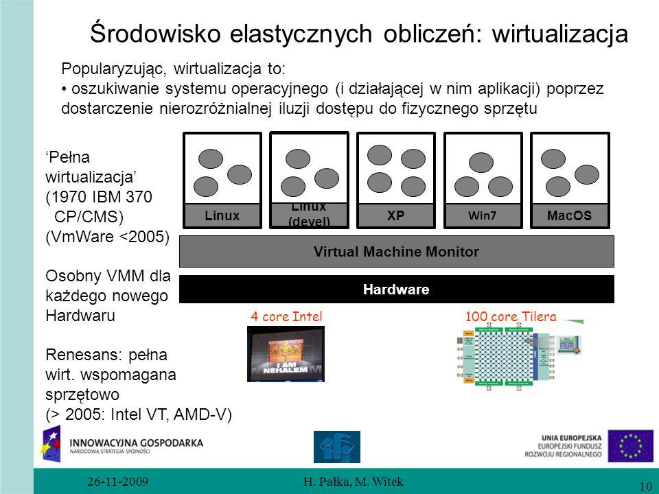 Środowisko elastycznych obliczeń: wirtualizacja