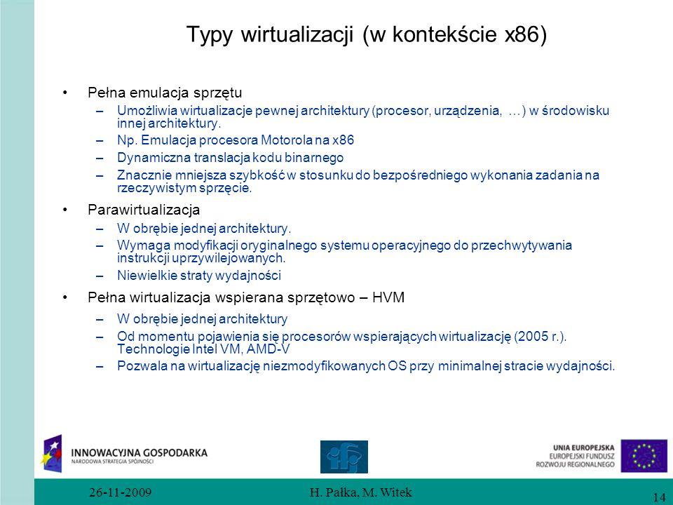 Typy wirtualizacji (w kontekście x86)
