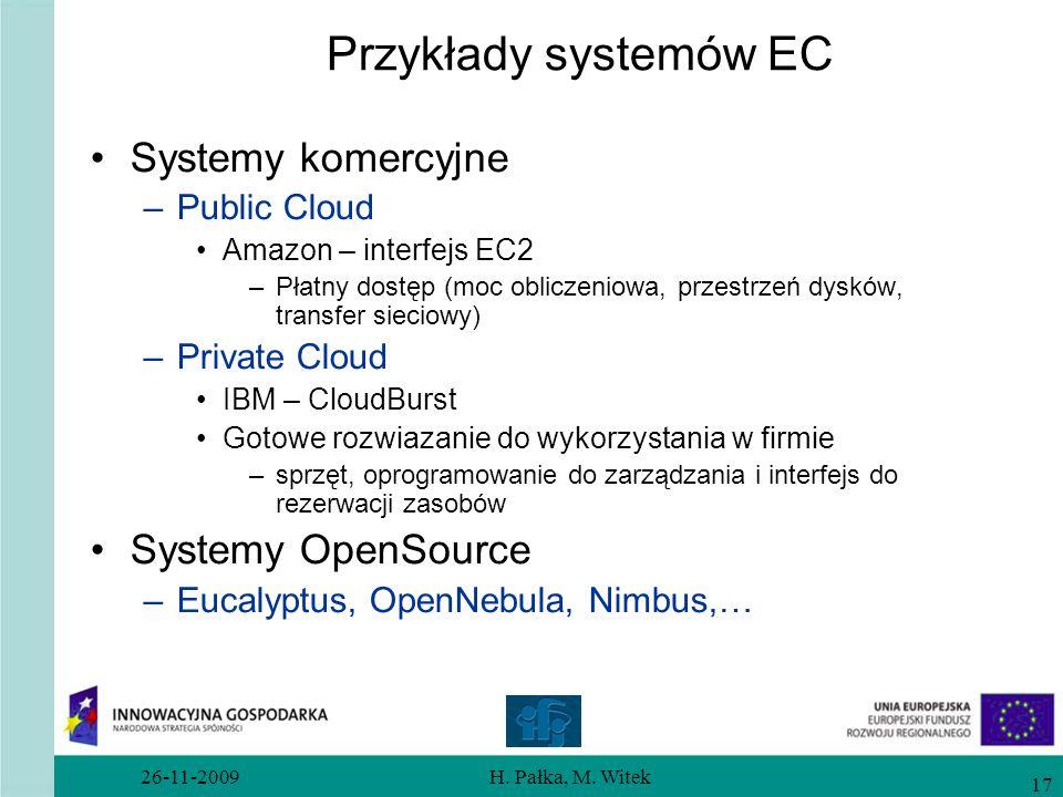 Przykłady systemów EC Systemy komercyjne Systemy OpenSource